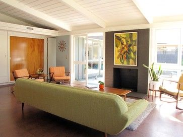 My Houzz: A Mid Century Marvel Revived In Long Beach Midcentury Living Room