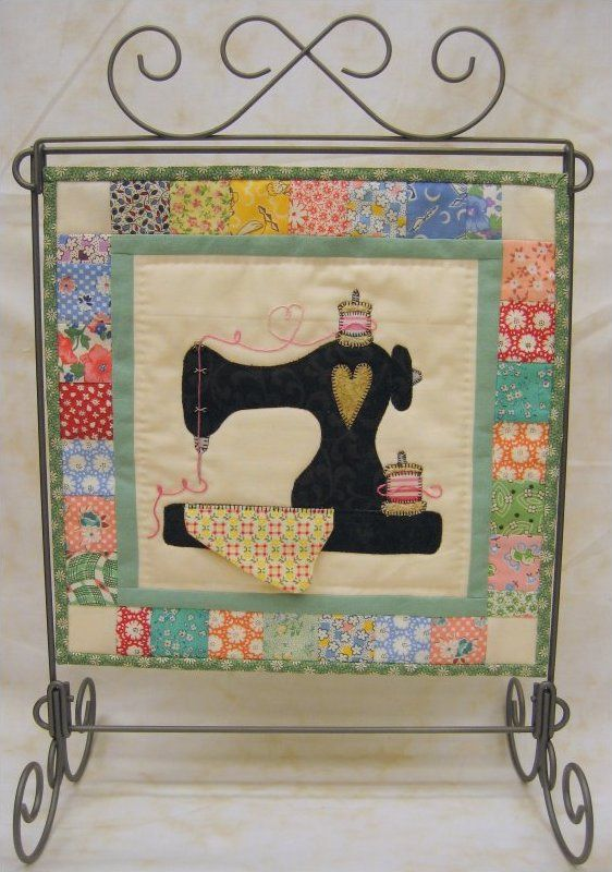 Sew and Sew...beautiful mini quilt that would look nice hanging over my antique sewing machine!