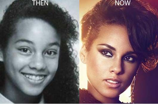 Alicia Keys Nose Job Photo Before and After - http://www.celeb-surgery.com/alicia-keys-nose-job-photo-before-and-after/
