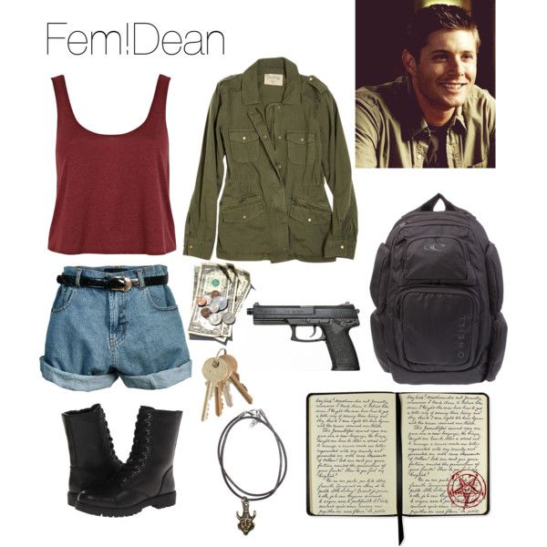 Fem!Dean from Supernatural by justfatyyy12 on Polyvore featuring moda, River Island, Velvet, Retrò, O'Neill, CO, Madden Girl and RIZAL