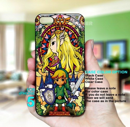 The Legend of Zelda The Wind Waker - For iPhone 5 Black Case | uCaser - Accessories on ArtFire