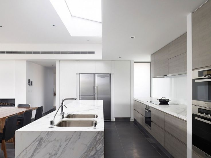 Beautiful Sleek Modern Home D cor with Exclusive Shade  Robert Street House  Black Floor Tile White. 1000  images about Ideas for the House on Pinterest   White quartz