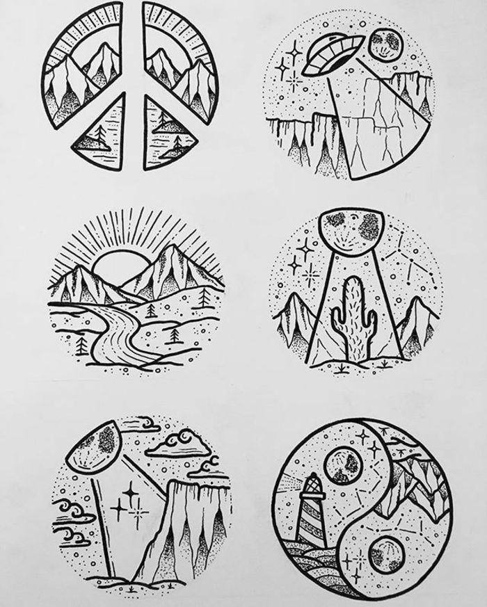 Dessin de lion en noir et blanc dessin noir et blanc technique ronde tatouage style dessin tatou ...