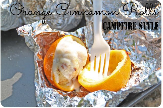 Orange Cinnamon Rolls: Campfire Cooking {recipes}