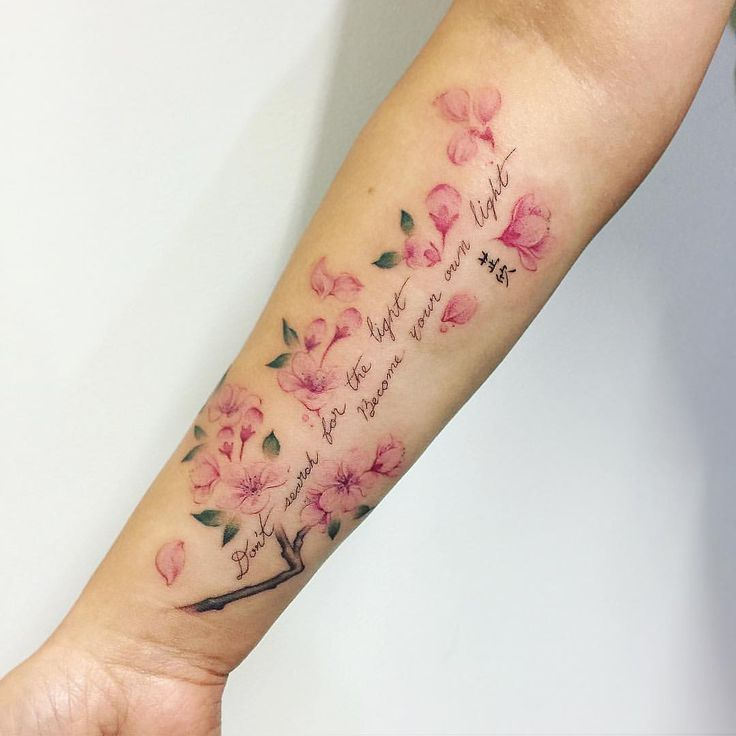 Cherry blossom and a quote in memory of Candice fo…