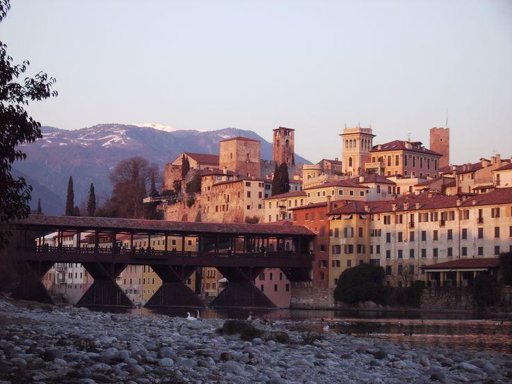 Ponte Vecchio in Bassano del Grappa, Italy designed by Palladio (about 20 mins from Paderno del Grappa)