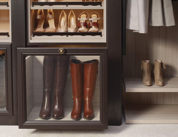 #Custom Vertical Shelving And Pull Out #shoe Drawers Are A Great Way To