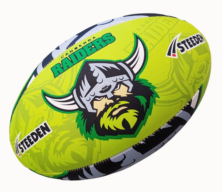 Raiders Rugby Ball by Steeden