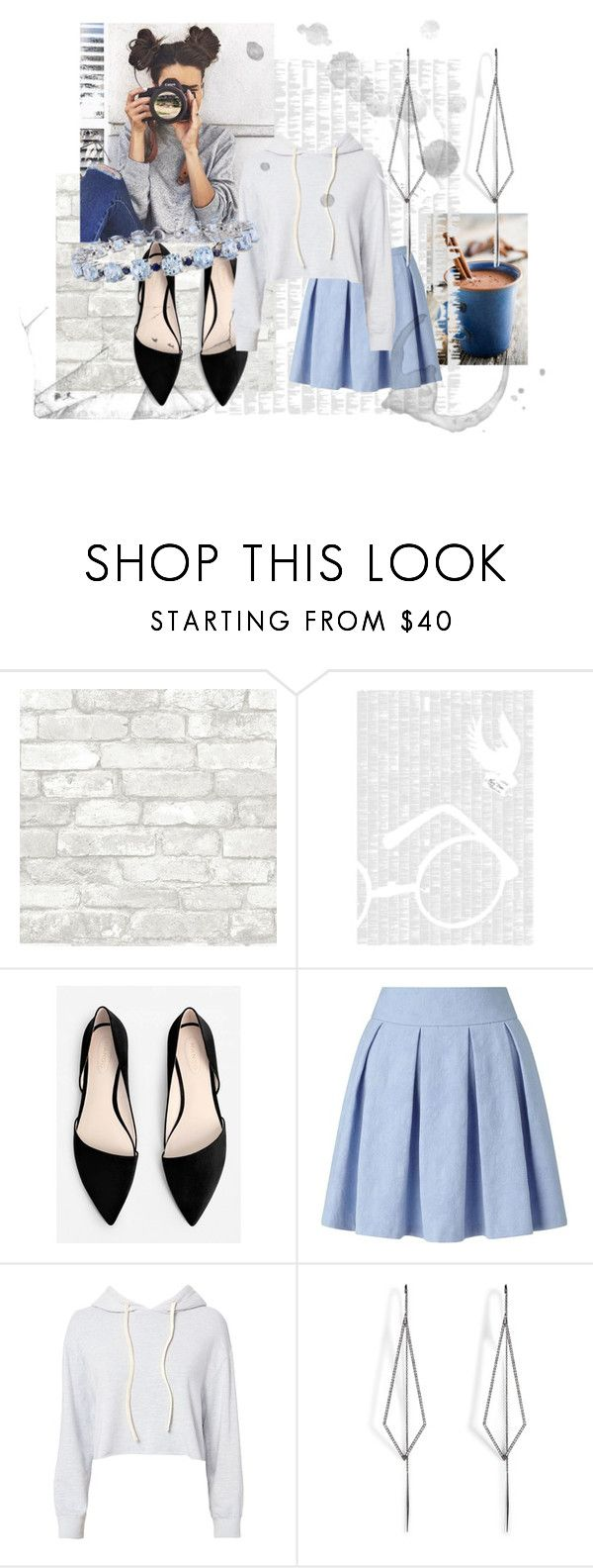 """Grey and Blue"" by marzthayn on Polyvore featuring Spineless Classics, MANGO, Miss Selfridge, Monrow, Diane Kordas and Miadora"
