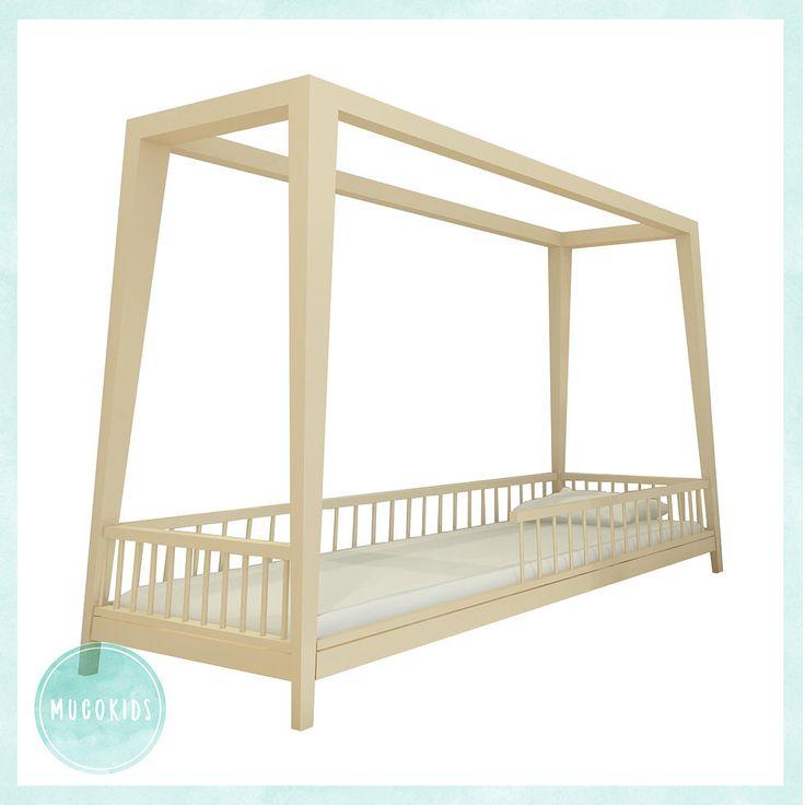 Montessori Dizayn Yatak Karyola  Ürün Ebatları :  Bebek ve Çocuk Odası Mobilyası, Tekstili, Aksesuar ve Dekor Ürünleri ile Ahşap Oyuncakları İmalat ve Satışı - www.mucokids.com - www.mucostore.com