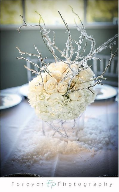 Carnet d'inspirations : mariage hivernal blanc