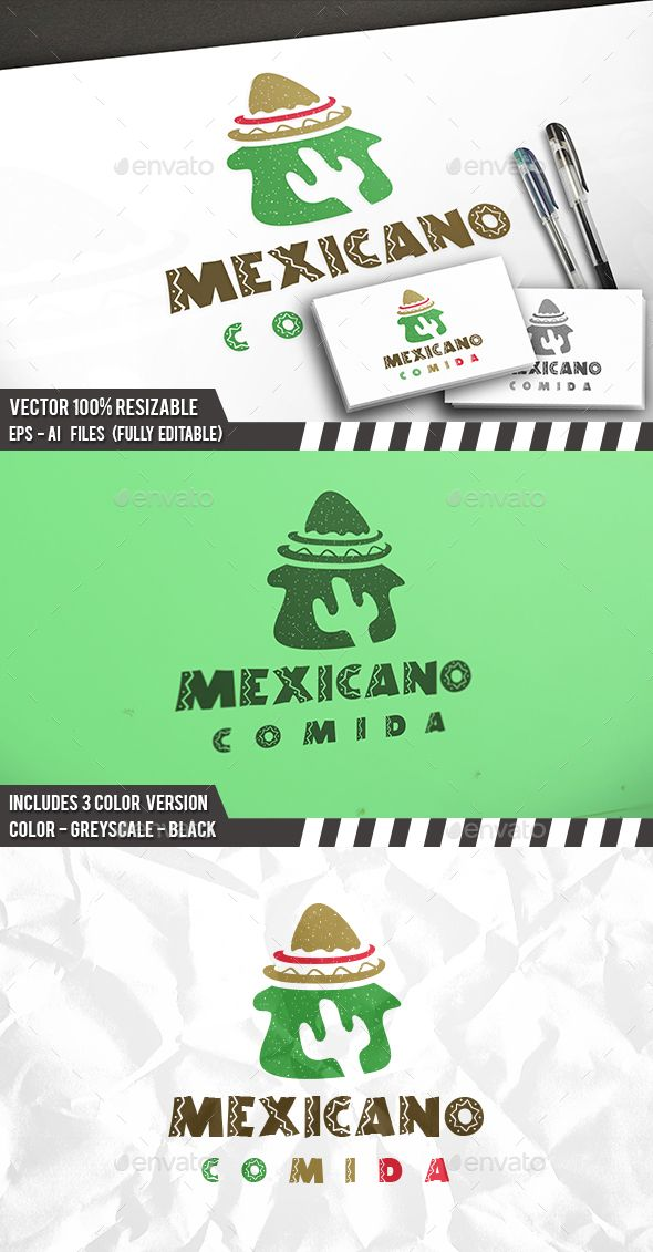 Mexican Food Logo — Photoshop PSD #taco #house • Available here → https://graphicriver.net/item/mexican-food-logo/17428125?ref=pxcr