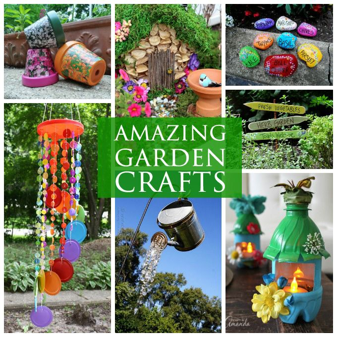 Lots of garden crafts that you can make! Create your own garden decorations with these fun outdoor craft tutorials for your garden area.