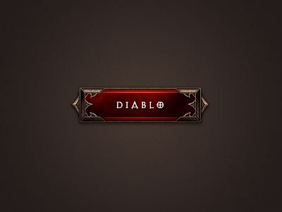 Blizzard's latest game, Diablo 3, has a beautiful button. Grab the PSD for this button here!