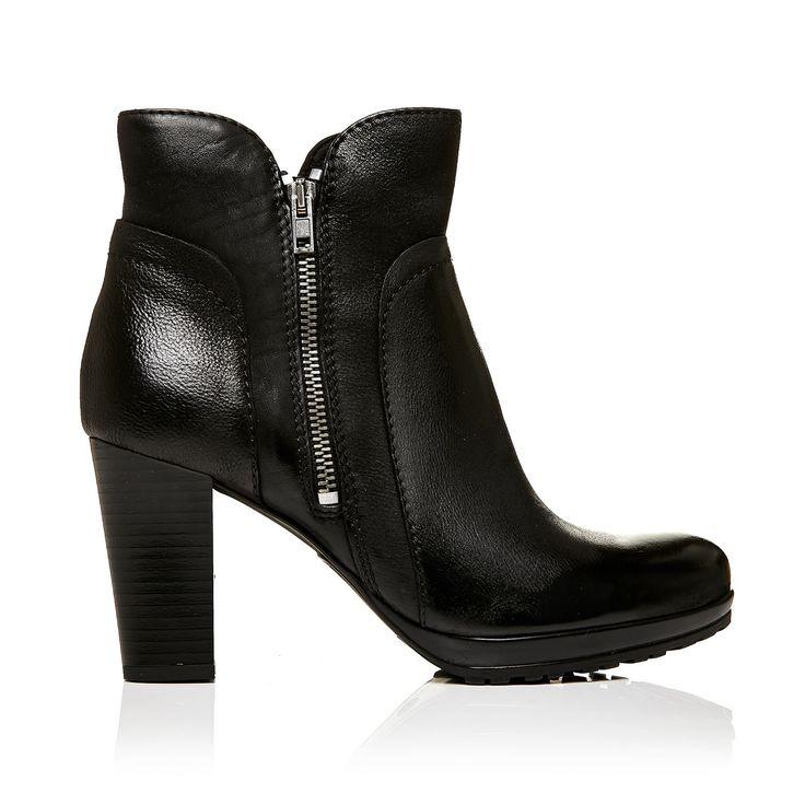 Moda in Pelle Upload Black High Smart Short Boots