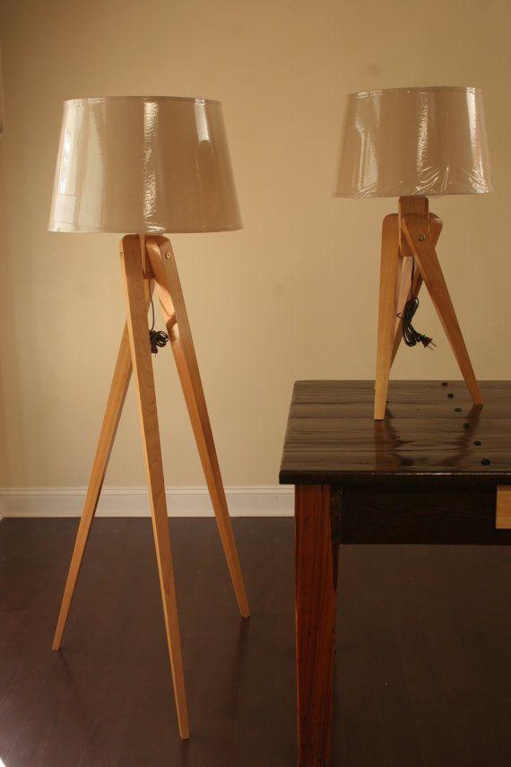 Hold Listing For David   Tripod Floor Lamp