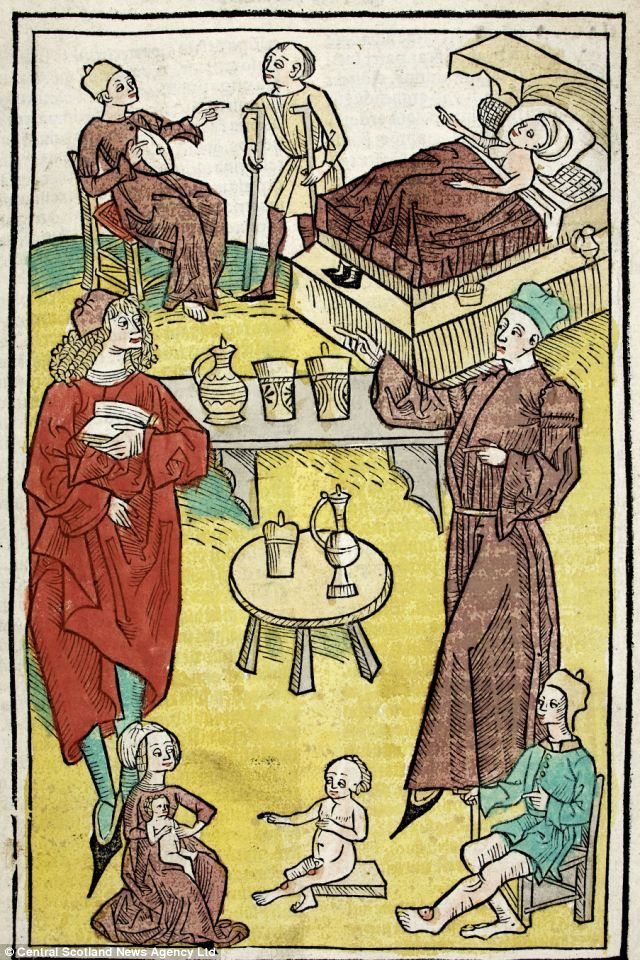 'De Hortus Sanitatis': A rare book detailing some of the earliest European medical texts. A rare medieval book gives an insight into the bizarre medical practices used 500 years ago. The book, first printed in Mainz, Germany, in 1491, is a fusion of late medieval science and folklore. It contains detailed writings and annotated illustrations on plants, herbs, animals, and minerals. Meanwhile, detailed illustrations reveal how physicians used to study the colour of urine to make diagnoses.