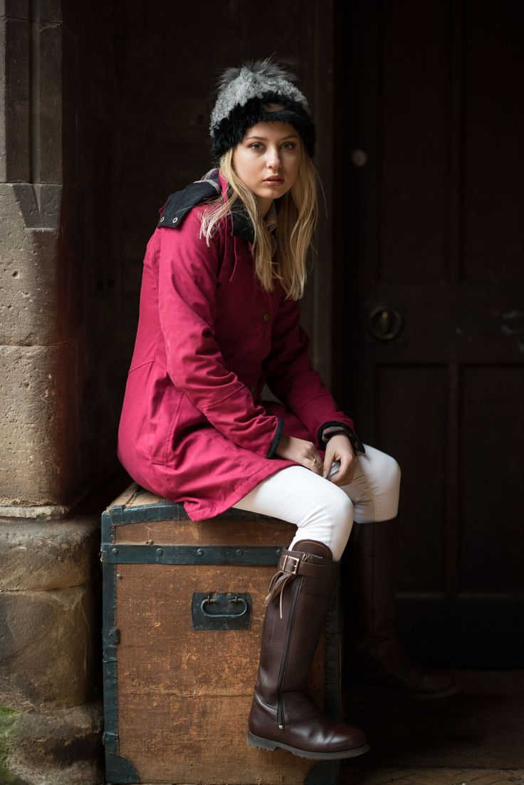 Cranberry Odette coat and Matador boots #waterproof #welligogs #boots #leather #wellies #coat #fashion #ladiesfashion #countryside