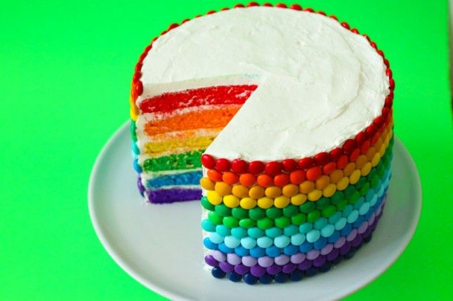 It's a DOUBLE RAINBOW cake! This basically epitomizes why we love Brit  Co.