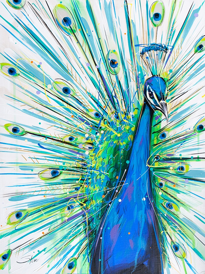 Peacock - framed and fabulous!