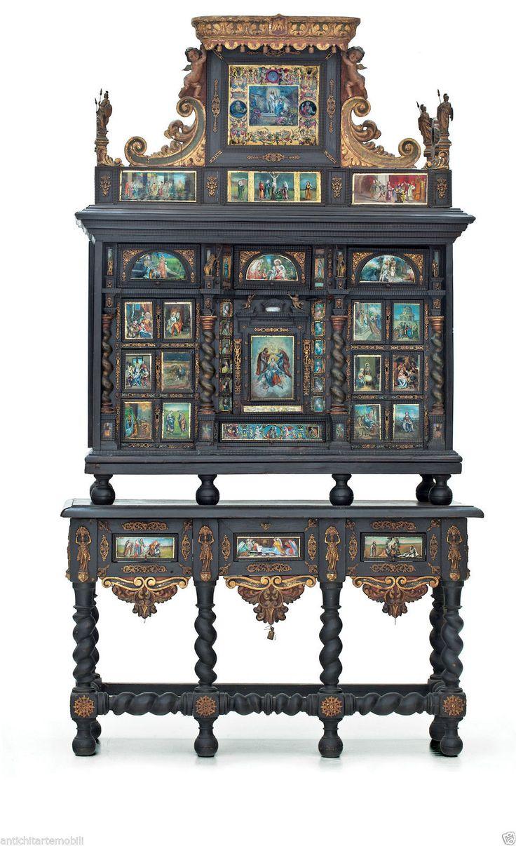 Imponente Monetiere Spagnolo del 700 Sec. XVIII con Scene Arte Sacra | eBay