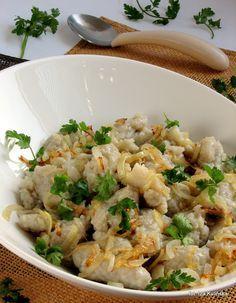 Smaczna Pyza sprawdzone przepisy kulinarne: Szare kluski - kluski ziemniaczane