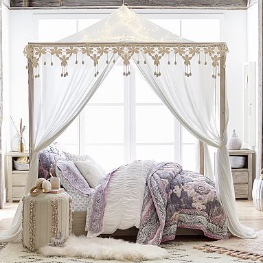 Casual Boho Canopy Pbteen Love The Fur Rug To Go In Front Of Nightstand