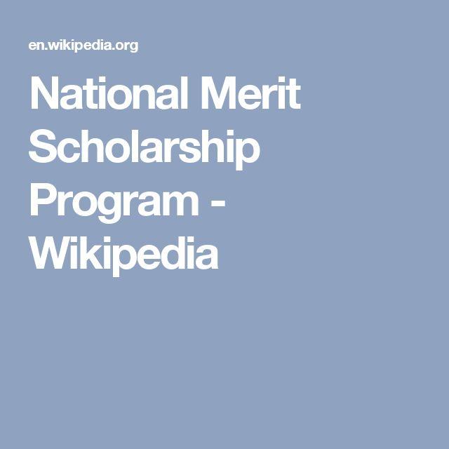 National Merit Scholarship Program - Wikipedia