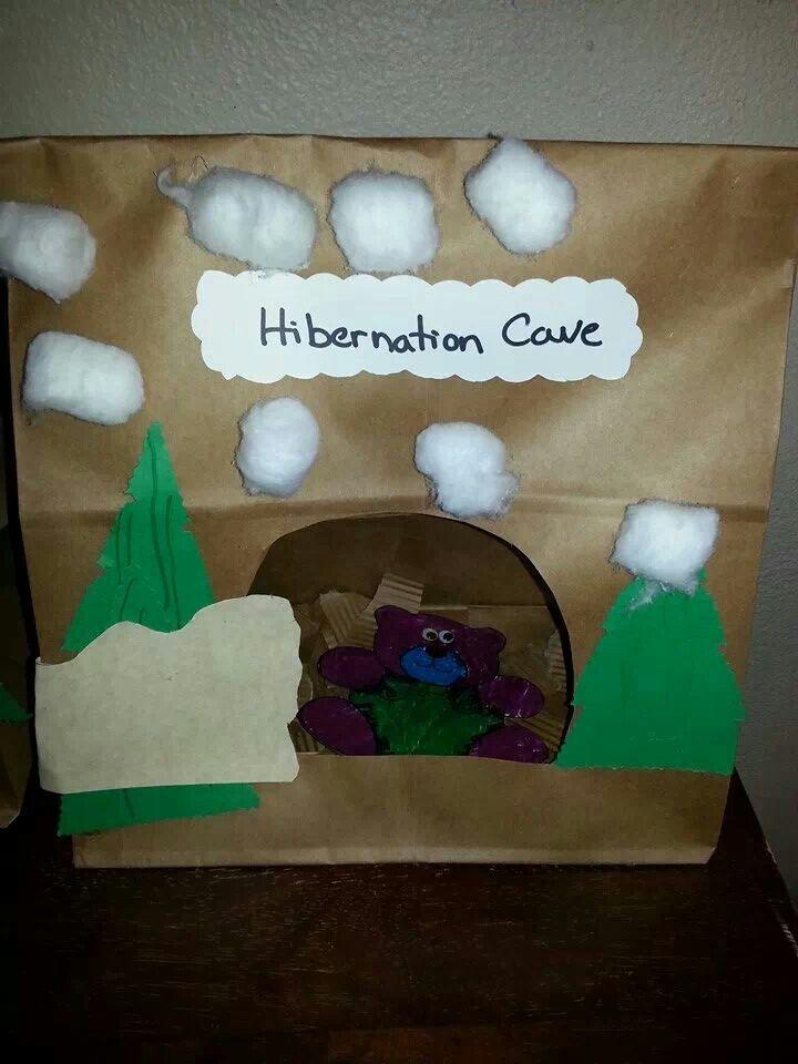 hibernation preschool craft
