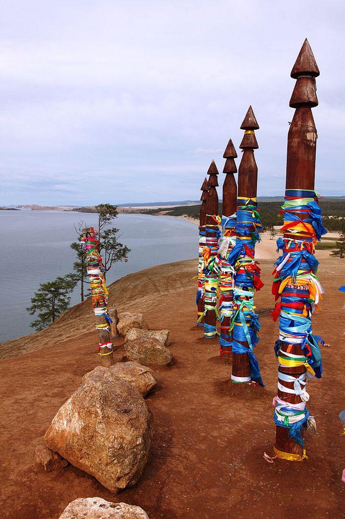 Russia, Siberia, Irkutsk region, Lake Baikal, Olkhon Island, a sacred shamanic place.
