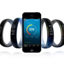 Nike Store. Nike FuelBand  Need motivation to stay fit? Nike+ Fuel Band tracks daily steps, calories, and doubles as a watch! Great mobile interface to keep you on track.