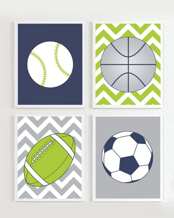 Sports Prints Printables Football Soccer Baseball Basketball