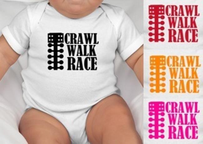 CRAWL WALK RACE ONESIE Baby One Piece Shirt Drag Racing Top Fuel Motorcycle Car #BabeNotIncluded #Everyday