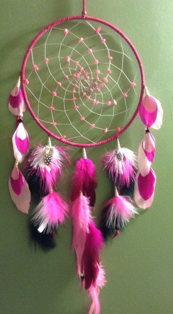 Dream catcher Pink goose turkey rooster guinea by CydsCreations, $99.00