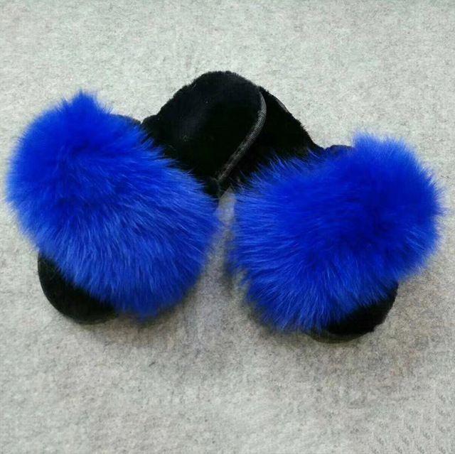 56fba8ad72d2 Source mink fur slides wholesale fur slippers cruelty free fur slides on  m.alibaba.com
