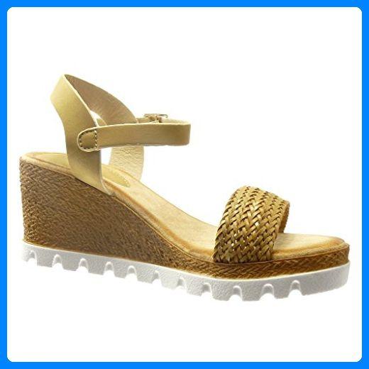 Angkorly - damen Schuhe Sandalen Espadrilles - Plateauschuhe - Offen - Seil Keilabsatz high heel 7 CM - Beige FD27 T 40 - Sandalen für frauen (*Partner-Link)