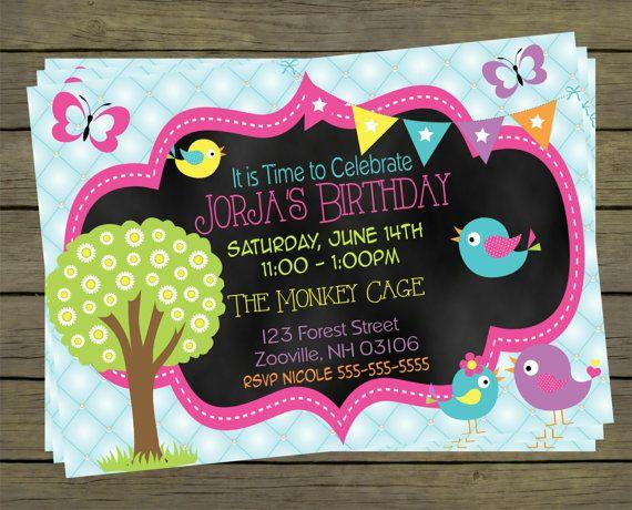 Spring Time Digital Birthday Invitation  Party by PYOpartyinvites