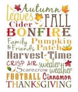 Free Fall Subway Art Printable, #Fall, #Thanksgiving