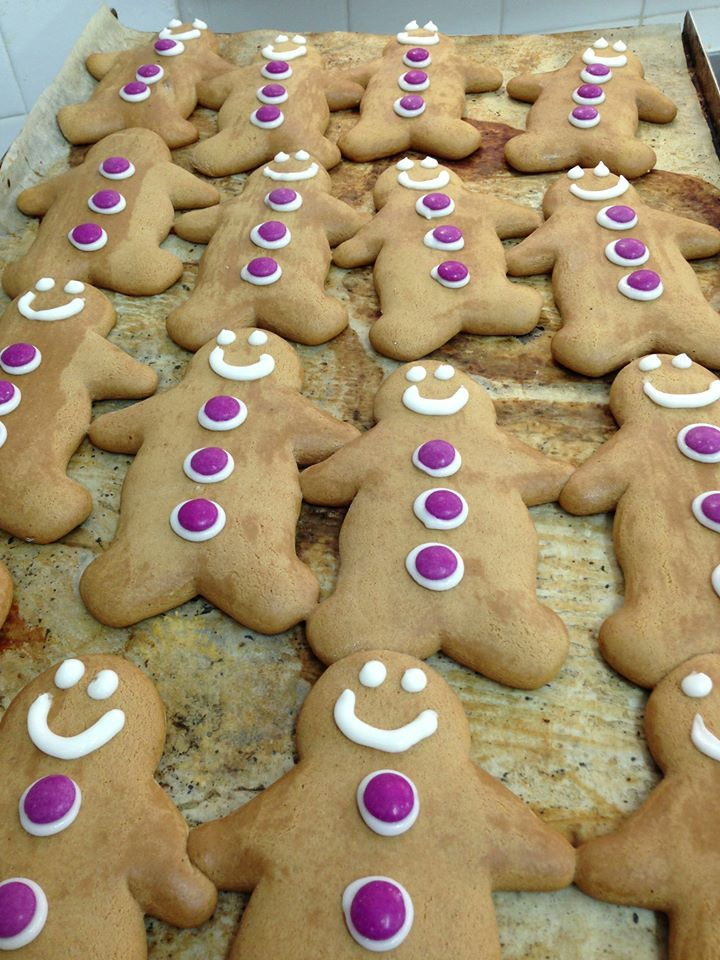 Wild Bakeries little purple gingerbread men...to support Freo Dockers in the AFL Football...to cute!
