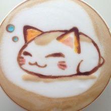 Gattuccino? - Nemuneko Is so cute Latte Cute Coffee Art.  ❤