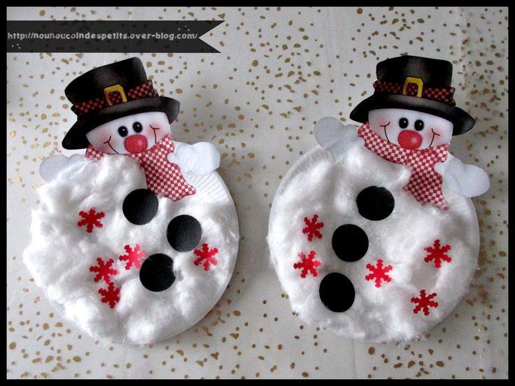 Les 25 meilleures id es de la cat gorie bonhomme de neige sur pinterest cr ations th me - Fabriquer un bonhomme de neige ...