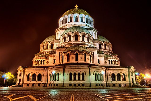 Nevsky Cathedral- Sofia. Saw this at least once a week. Gorgeous building!