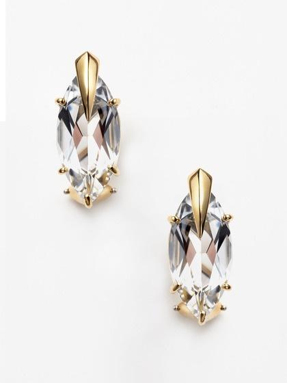 Tito Pedrini Artigli White Topaz Marquis Earrings