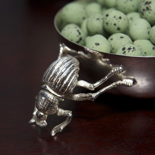 Silver plated Dung beetle Snack Bowl