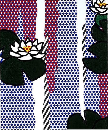 Naissance des pieuvres (1991), huile de Roy Lichtenstein