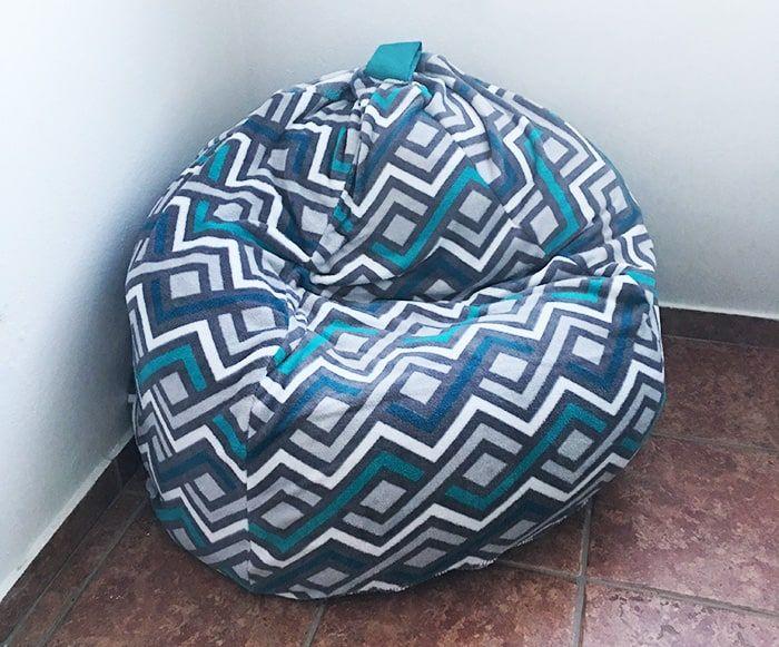 The Easiest Diy Bean Bag Chair Tutorial Learn To Create Beautiful Things Diy Bean Bag Diy Bean Bag Chair Bean Bag Chair