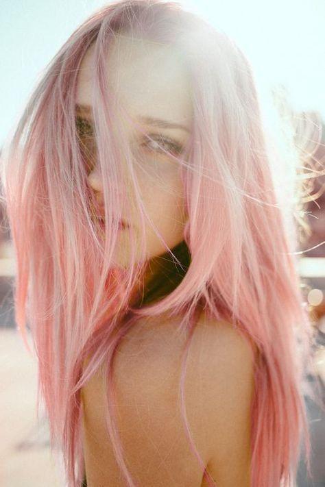 FULL SET 100% Human Hair Extensions : Pastel Quartz Pink / Rose Gold Pink, Remy Hair Extensions, Pastel Pink Extensions,