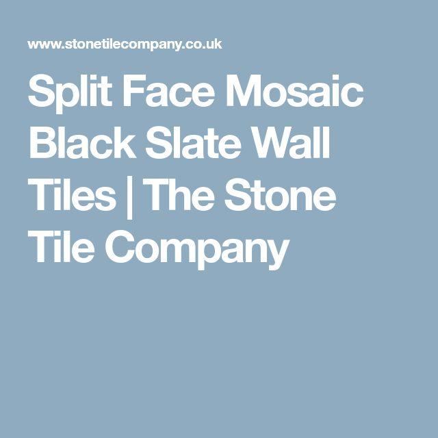Split Face Mosaic Black Slate Wall Tiles   The Stone Tile Company