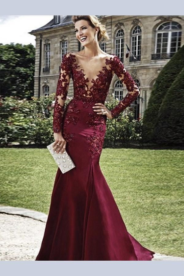 5c1616ae278 Custom Made Fine Burgundy Prom Dress