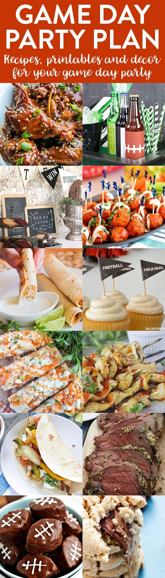 Hosting a baby shower and need some food ideas look no further since - Game Day Party Plan